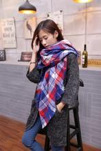 2016 Women Tartan Plaid Scarf Cashmere Scarf Brand New Designer Unisex Acrylic Scarves Basic Shawls Blanket