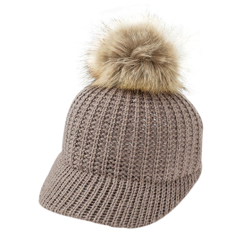5fd7b1049c94f9 Fashion Knitted Baby Hat Pompom Winter Cap for Kids Adjustable Solid Baby Winter  Hat Accessories Children Cap for 2-5 Years 1PC | Bella's Baby World