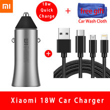 Original Xiao mi Auto Ladegerät 18W Quick Charge mi Metall Gehäuse Dual USB Für Mobile iPhone Samsung Huawei Xiao mi Tablet Schnelle Ladung(China)