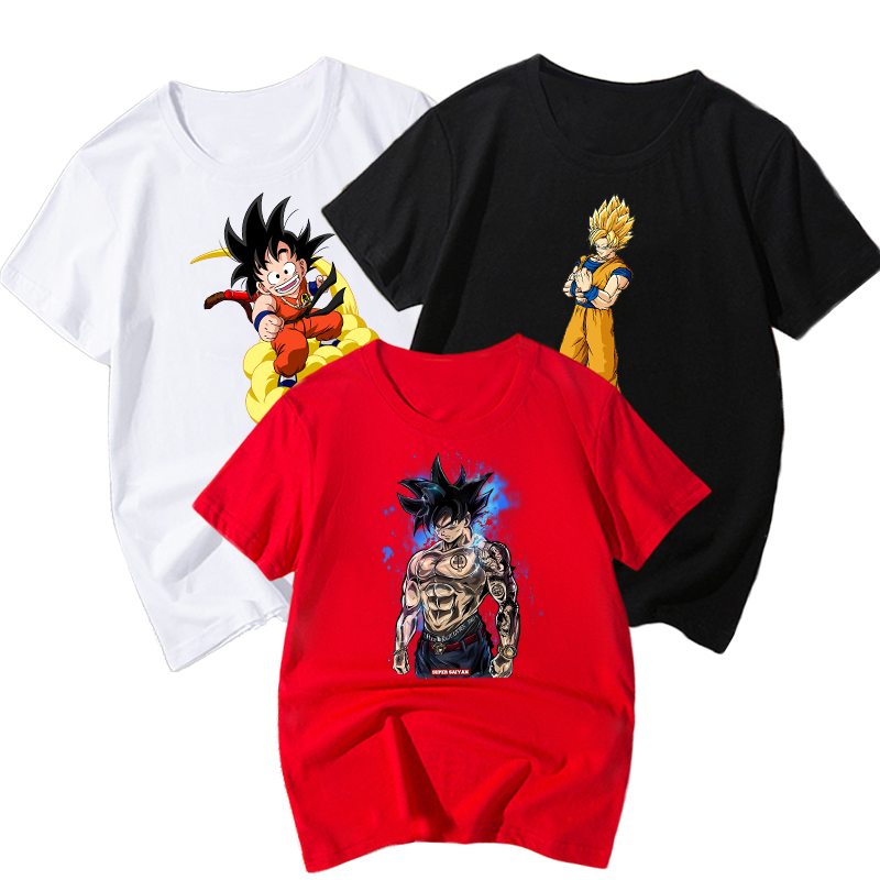 Dragon Ball Printed Children Summer Short Sleeve T shirt 2019 NEW Streetwear kids T shirts in Clothing Sets from Mother Kids