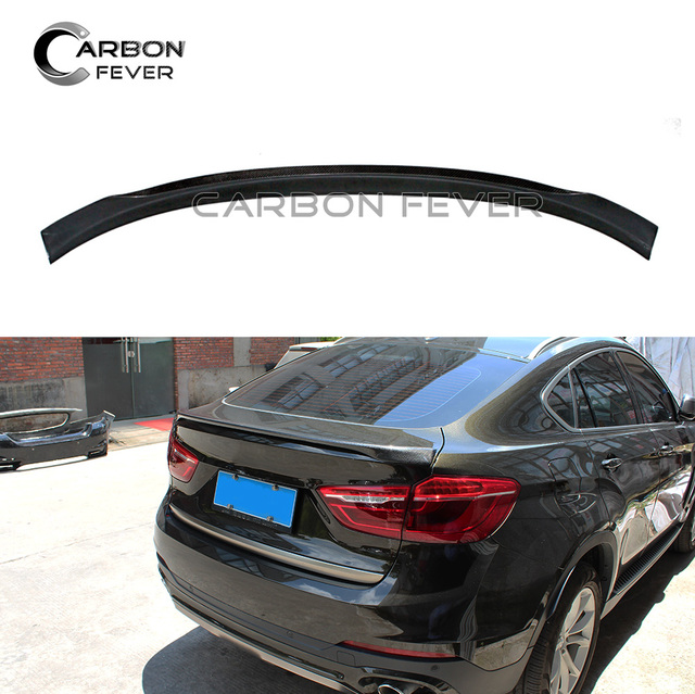 Mp Style F16 Carbon Fiber Tail Spoiler Lip For Bmw X6 F16 2015