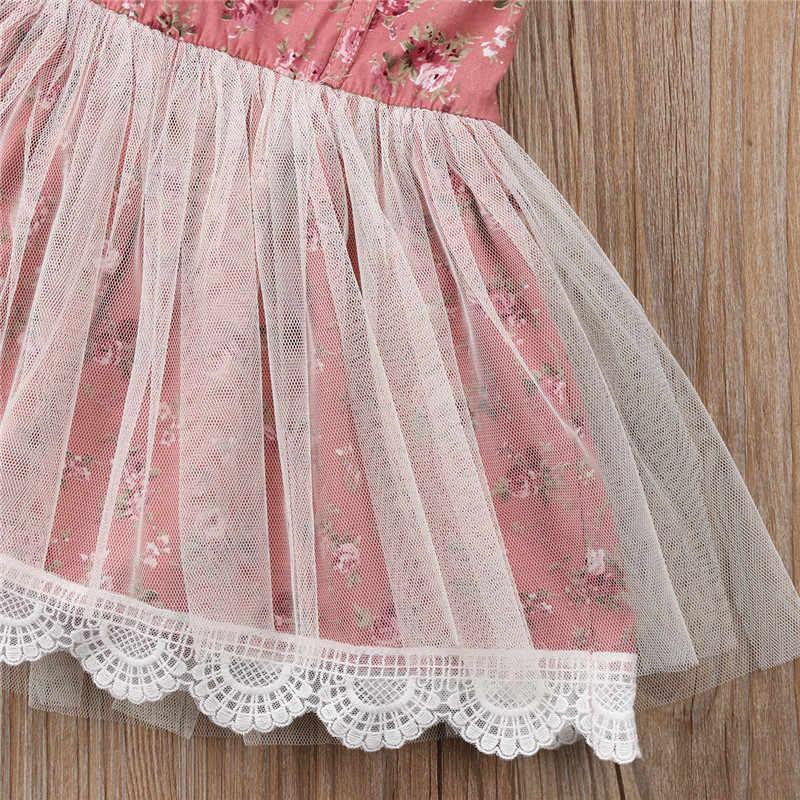 الأميرة الكرة ثوب ثوب خمر طفل فتاة الاطفال زهرة اللباس الطفل أكمام الدانتيل تول حزب فساتين وتتسابق ملابس Sunsuit