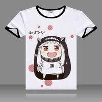 Himouto! Umaru-chan Camiseta Anime Doma Umaru Camiseta Moda Hombre Ropa de Manga Corta Camiseta Tops