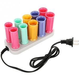 Image 5 - Elektryczny podgrzewany rolki lokówka rolki papilotki zestaw włosów przykleja rury suche i mokre kręcone