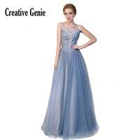 Blue Strapless Formal Dress Long 2018 New Sexy Halter Crystal Bead Diamond Network Sexy Halter Women Dresses Evening Party