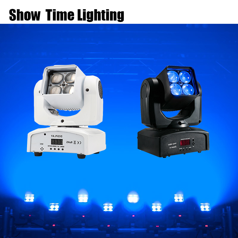 Beam Wash 2 IN 1 Mini Led Beam Moving Head Lite With Zoom 4pcs RGBW 4 IN 1 Moving Head Professional Stage KTV DJ Party Lite
