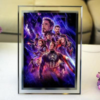 The Avengers Ultimate Battle Crystal Photo Frames Desk Ornament Iron Man Spider Man Photo Frames Around Living Room Decor M1079