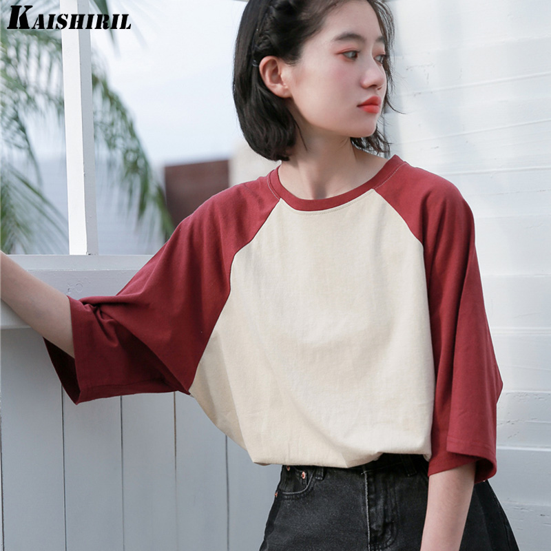 Womens T-shirt cotton summer tops female t shirt women 2018 korean vintage T-shirts clothes for women tee shirt femme clothing