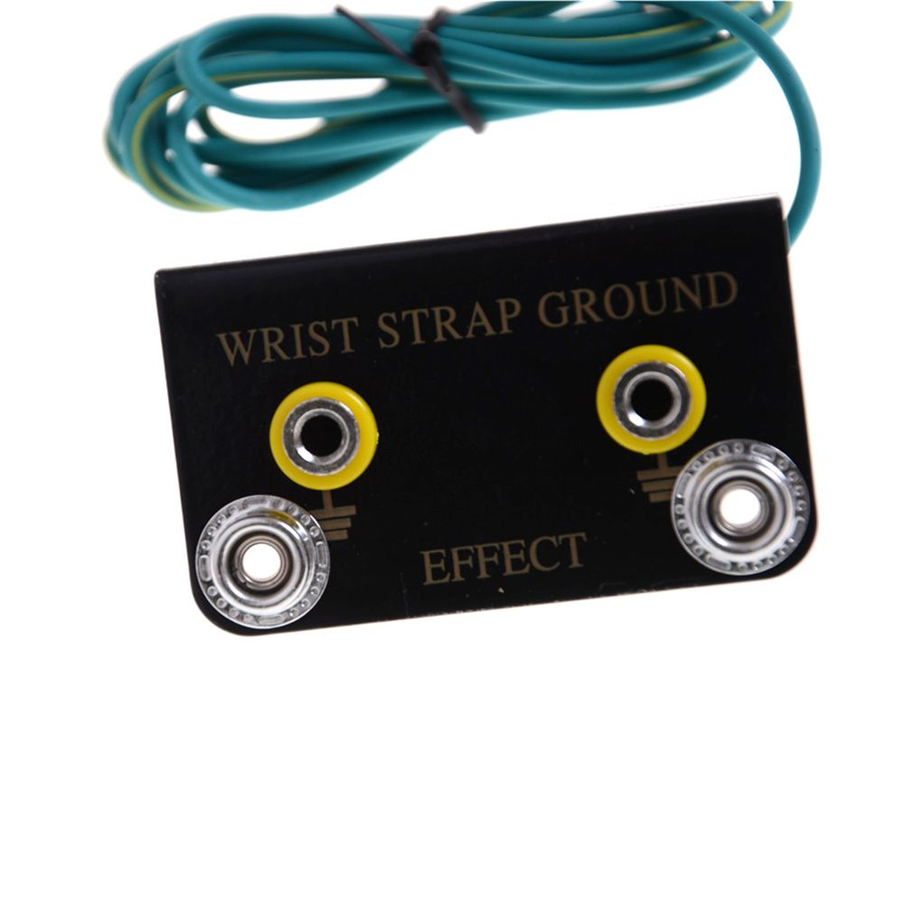 ESD Ring Terminal Cable Anti Static Socket Ground for Wrist Strap LW