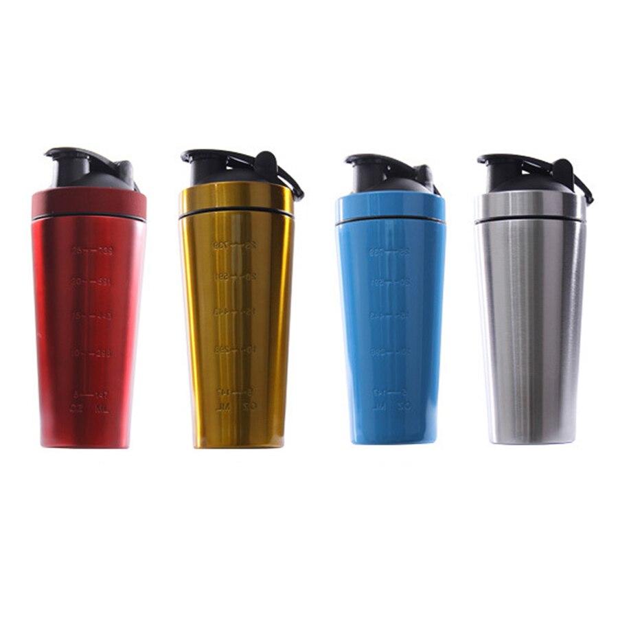 Stainless Steel Protein Shaker Bottle Gym Shake Kettle Sport Milkshake Mixer Water Bottle Whey Protein For Fitness BPA-Free