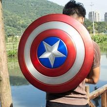 Металлические реплики и опора идеальная версия 1:1 Капитан Америка щит Косплей Неокрашенный/окрашенный