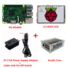 Raspberry Pi 3 Touch LCD Screen Display Monitor Kit with Pi3 Model B Board + 3.5 inch LCD Touch Screen + 5V 2.5A Power Supply
