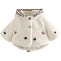 2018 Kış Çocuk Kız Faux Tavşan Kürk Pelerin Düğün Trençkotler şal Giyim Mont Çiçek Kız Bebek Peluş Pelerin Bebek Kalın pelerin