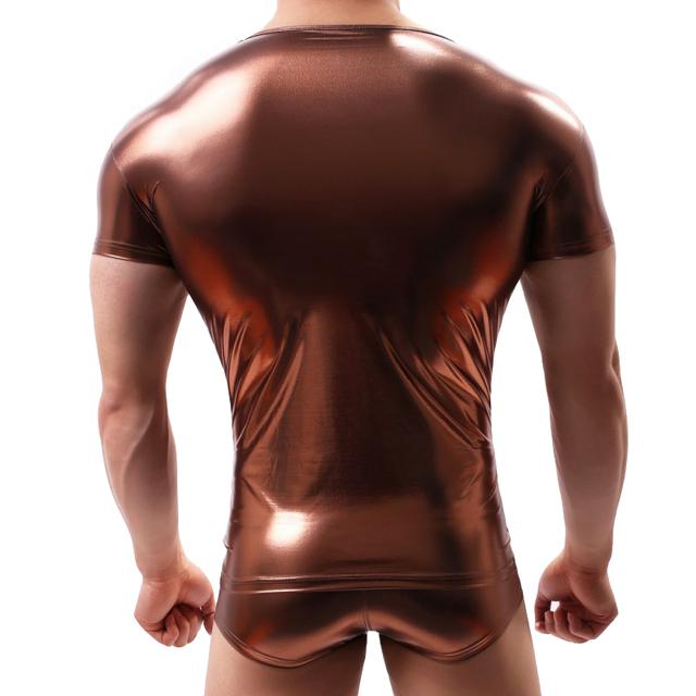 T shirt men camisetas hombre imitation leather sweatshirt man's T-shirt streetwear tee shirt homme harajuku men's clothes