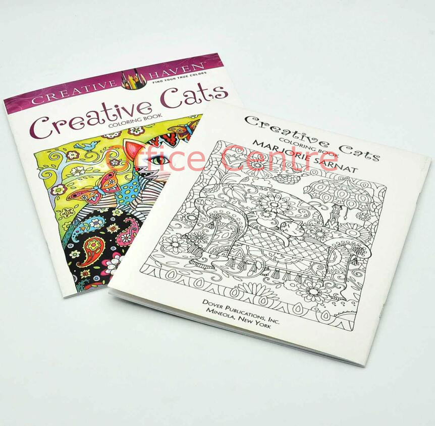 24pages Coloring Book For Kids Graffiti Creative Heaven Cats Adults Children Antistress Secret Garden Series In Books From Office School