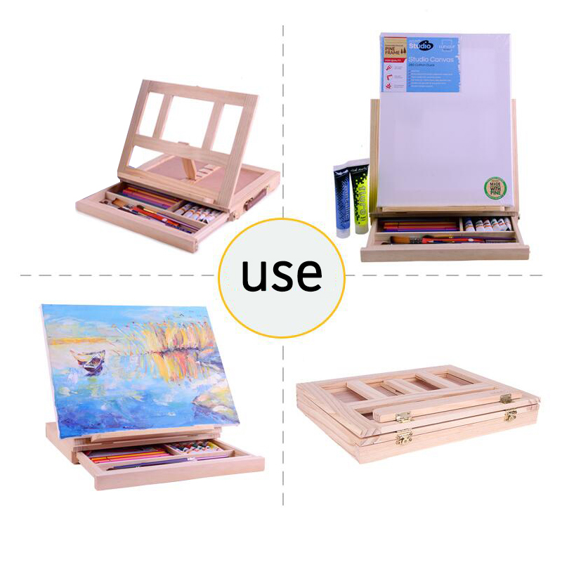 Multifunction Painting Easel Artist Desk Easel Portable Miniature Desk Light Weight Folding Easel For Storage Or During Trips 6