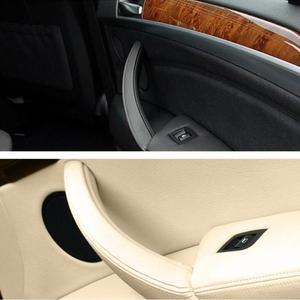 Image 3 - Manija de Panel de puerta Interior derecha e izquierda, cubierta embellecedora de tirar accesorios de Interior de coche para BMW E70 X5 E71 E72 X6 SAV