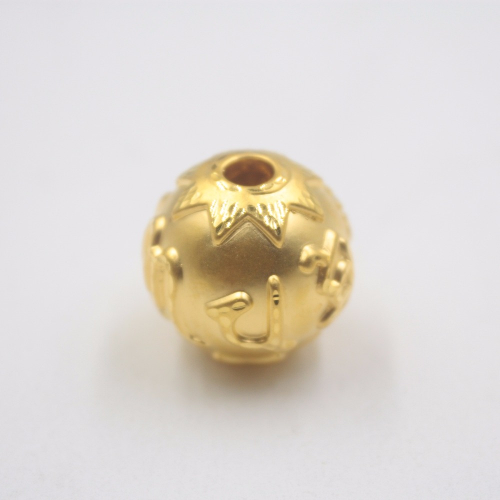 New Arrival Pure 24k Yellow Gold 3D Women Lucky Big Bead Pendant 1.5-2gNew Arrival Pure 24k Yellow Gold 3D Women Lucky Big Bead Pendant 1.5-2g