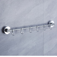 Single Towel Bar with Suction Cup 40CM Bathroom Rack Hook Kitchen Metal Hooks Wall Mount Bath Rail Holder Accessories