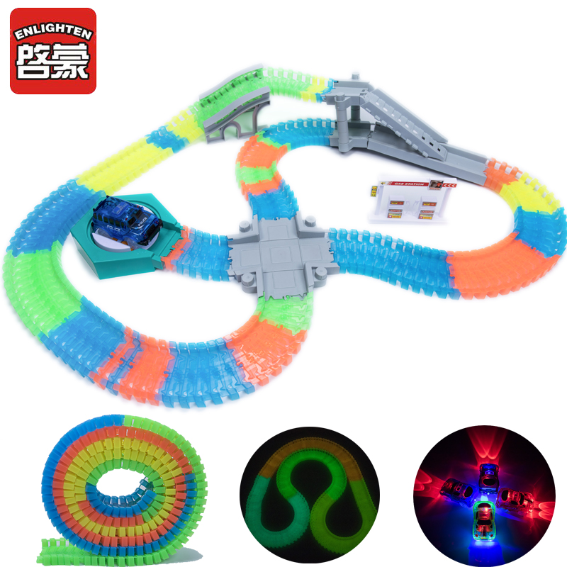 DIY Tracks Turntable Puzzle Toy Mini Racing Tracks Accessory for Race Track Electric Car Track Model Rail Kids Educational Toys