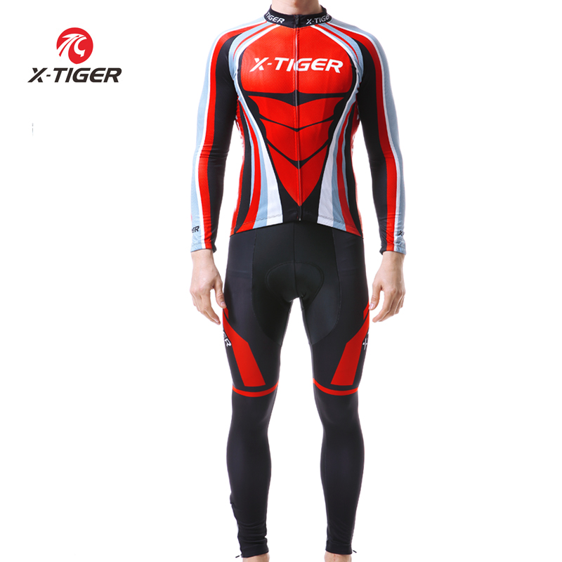 X TIGER 2019 Men Outdoor Cycling Set Long Sleeve Cycling Clothing Bike Clothing MTB Cycling Jeysey