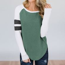2019 autumn and winter  fashion woman sweatshirts full patchwork pullovers o-neck slim sheath comfortable