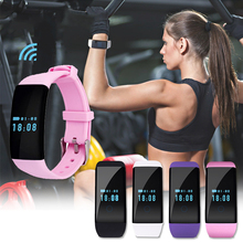 1pc women lady smart watches sports outdoor wristwatches Bluetooth GPS fashion clocks wristband rectangle shape silicone belt H4