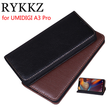 RYKKZ Luxury Leather Magnetic Flip Cover For UMIDIGI A3 Pro 5.7'' Mobile Stand Case For UMIDIGI A3 Pro Leather Phone Case Cover rykkz luxury leather flip cover for umidigi one pro mobile stand case for umidigi one pro max leather phone case cover