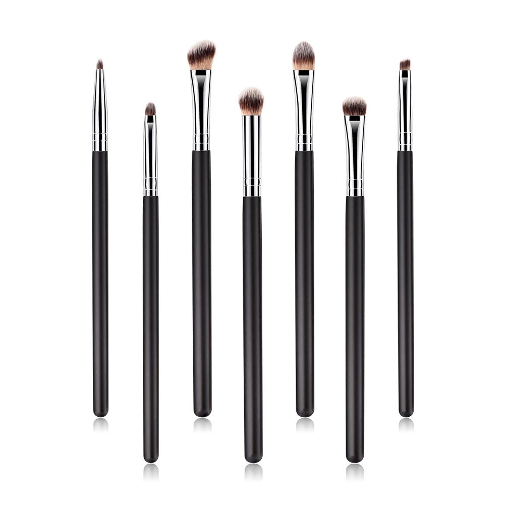 7pcs Natural Hair Eye Makeup Brushes Set Professional Eyeshadow Shader Eyebrow Eyeliner Powder Blending Brushes Makeup Tool Set
