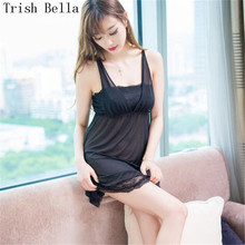 Trish Bella 2018 Lace transparent Camisole Extensible Wrap chest Nightdress sexy lingerie underwear lenceria erotic porno