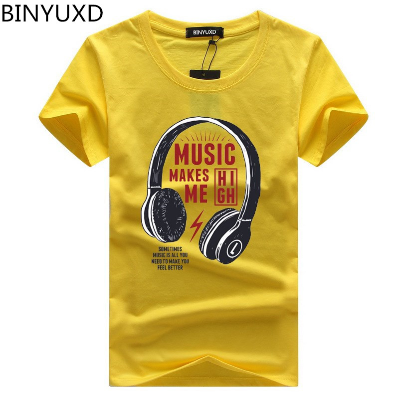 BINYUXD high quality men   t  -  shirt   brand clothing 2018 summer new fashion geometry design mens   t     shirt   loose print tshirts male