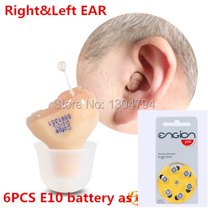 Free Shopping 2PCS/Lot Hearing Aid Portable Small Invisible Sound Amplifier Adjustable Wireless Mini Hearing Aid, Left&Right Ear guangzhou feie deaf rechargeable hearing aids mini behind the ear hearing aid s 109s free shipping