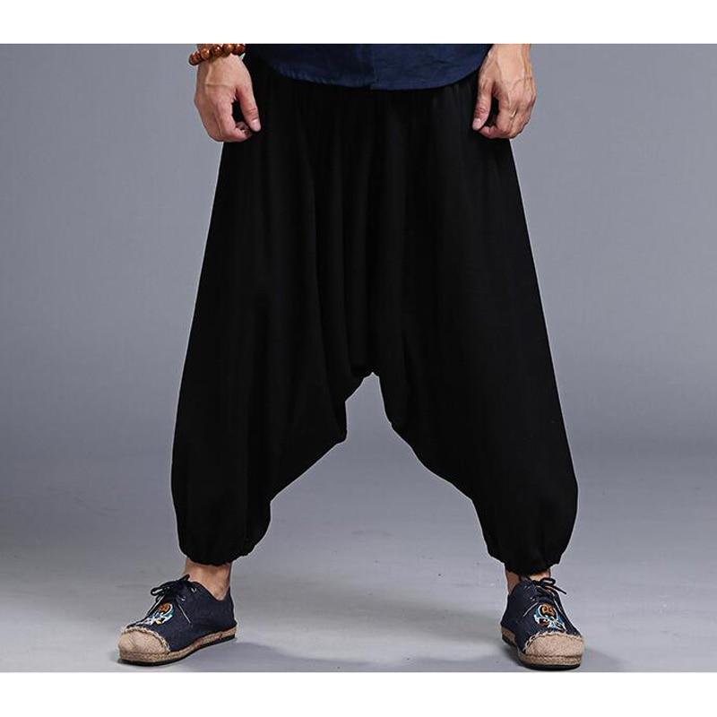 Men's Loose Style Linen Pants 2
