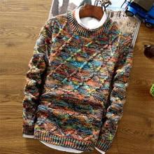 Модный мужской Рождественский свитер, повседневная облегающая Мужская одежда, вязаные пуловеры с длинным рукавом, зимний толстый свитер