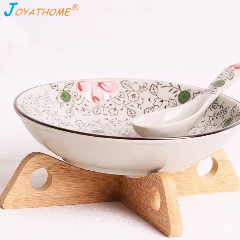 Image 4 - Joyathome Detachable Bamboo Heat Insulated Pad Kitchen Cooling Dish Bowl Pot Potholders Gadget Holder Anti Hot Table Pad-in Racks & Holders from Home & Garden