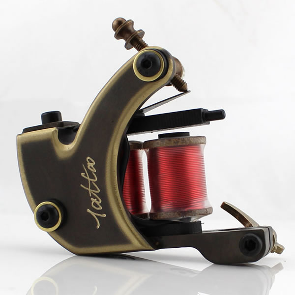 Handmade Whole Wire Cutting Copper Machine Tattoo Machine 10 Wraps Coil Tattoo Gun Liner and Shader top quality customs handmade tattoo machine kit 10 wraps coil zinc alloy machine for liner and shader free shipping tm 1114