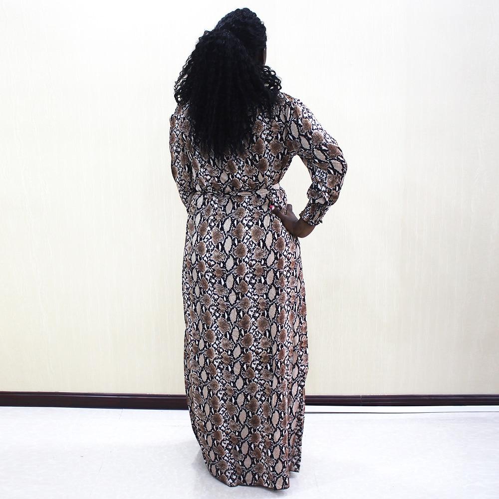 Image 2 - Fashion Dashiki Dress Waist Off Shoulder Casual African Dashiki Women DressAfrica Clothing   -