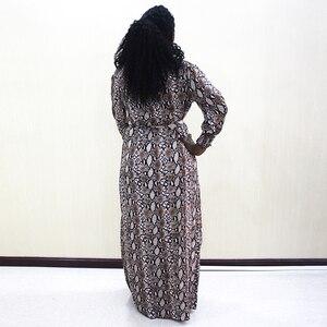 Image 2 - Mode Dashiki Kleid Taille Off Schulter Casual African Dashiki Frauen Kleid
