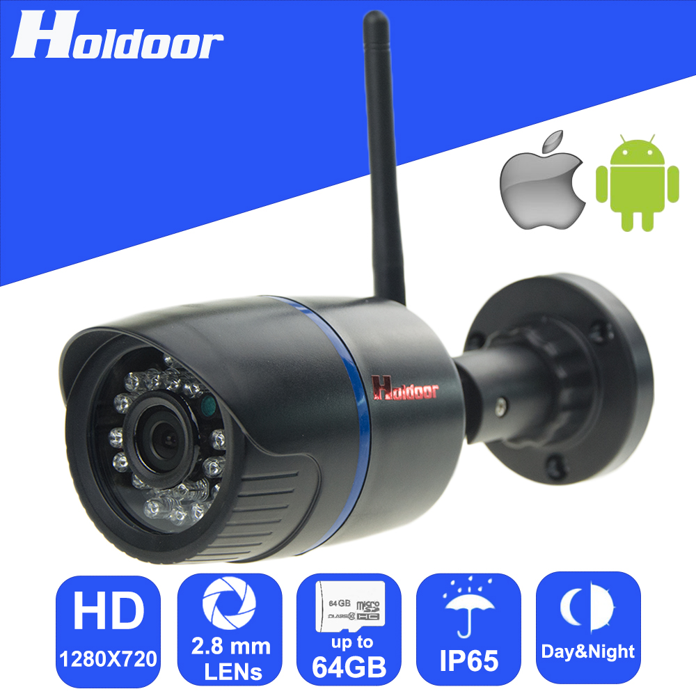 IP Camera wi-fi Wireless Surveillance Camcorder HD 720P with Micro SD Slot Waterproof DIY Alarm System for Home Indoor Outdoor