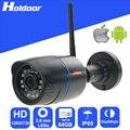 Wi-fi de la cámara ip de vigilancia inalámbrica videocámara hd 720 p con ranura sd micro impermeable bricolaje sistema de alarma para el hogar de interior al aire libre