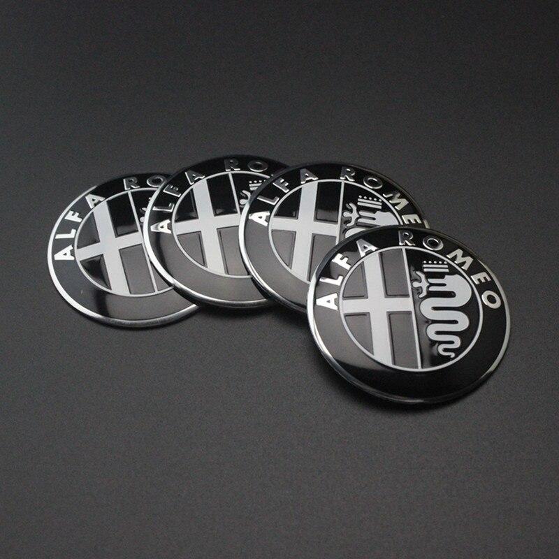 1 шт. 5,6 см 50 мм черный цвет Alfa Romeo GT для шин автомобильных колёс Центральный концентратор Кепка наклейка эмблема значок наклейка подходит для бесплатной доставки
