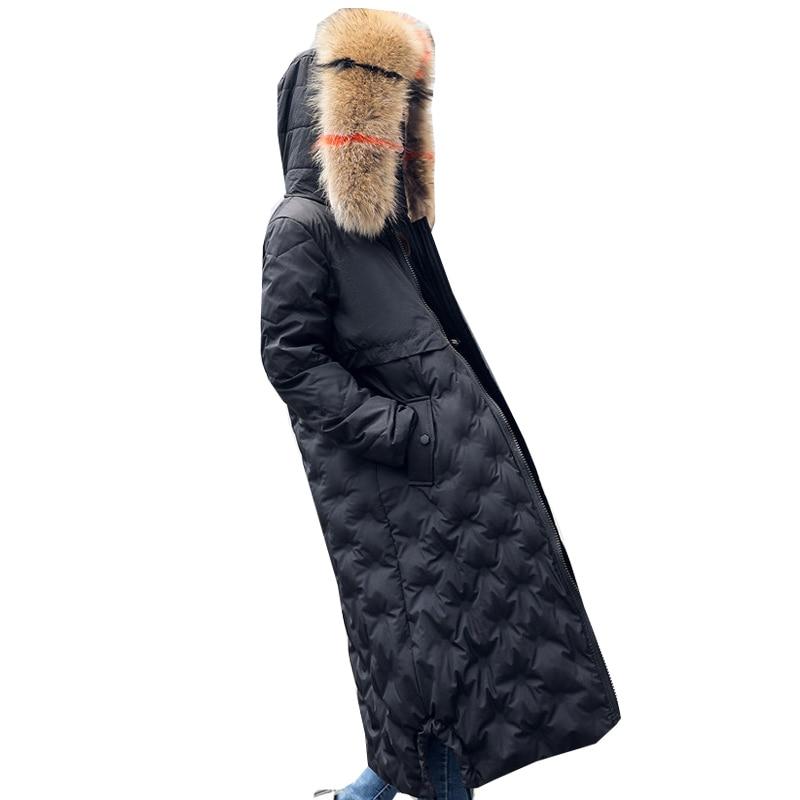 Fourrure Col Blanc Canard Nouveau De Noir Mince Ultra Duvet Pardessus Manteau ardoisé Solide Veste Pxsmled Femme Au Garder Réel Parkas Manteaux Vestes Chaud D'hiver wqA0Ew