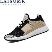 LAISUMK 2019 Fashion Summer Men Casual Trend Air Mesh Shoes Hombre Platform Breathable Light Network Sneakers
