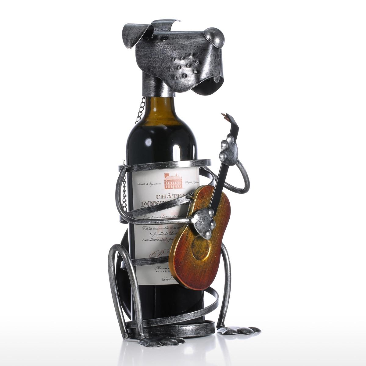 Casier à vin avec Saxophone fer Figurine Animal ornement pratique musique Style Sculpture vin stand décoration de la maison artisanat intérieur