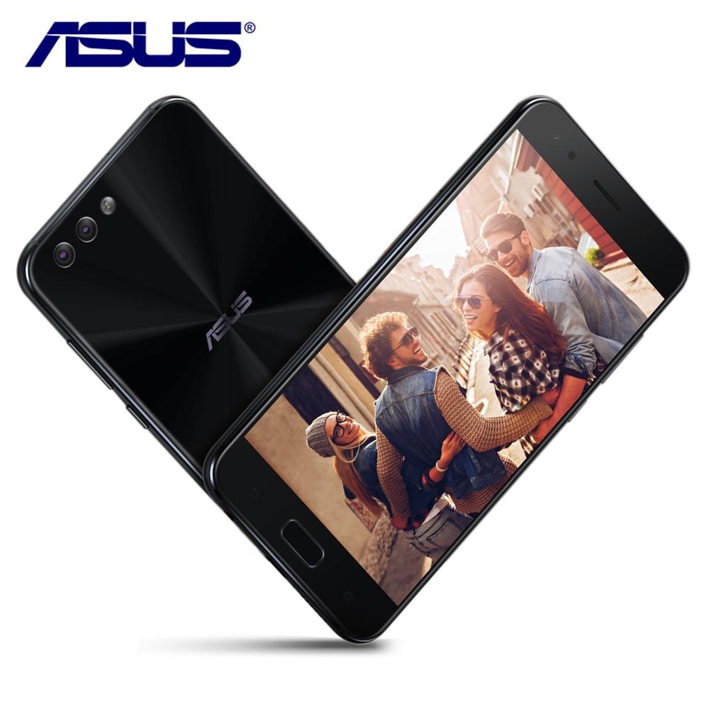 Nouveau Asus Zenfone 4 ZE554KL 4 gb RAM 64 gb ROM Android 7.1.1 5.5 ''3 Caméras 3300 mah Octa noyau Double Sim 12.1MP Téléphone Mobile Intelligent