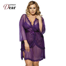 f21203daee Comeondear Sex Lingerie Long Nighty Lingerie Dress Satin Robes Women  Apparel Sexy Lingerie Underwear LB8249 Black · 2 Colors Available