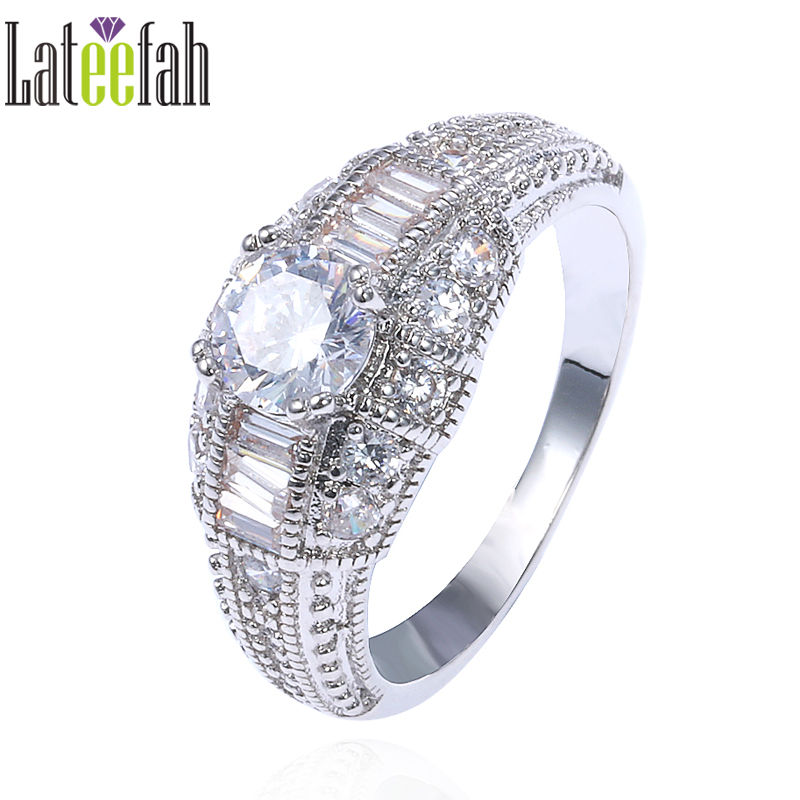 lateefah vintage wedding rings for women engagement etsy amazon round cubic zirconia white gold color promise - Amazon Wedding Rings