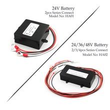 HA01 HA02 48V & 24 12v ソーラーシステムバッテリーイコライザーバッテリーバランサー充電器コントローラ鉛蓄電池銀行システム黒