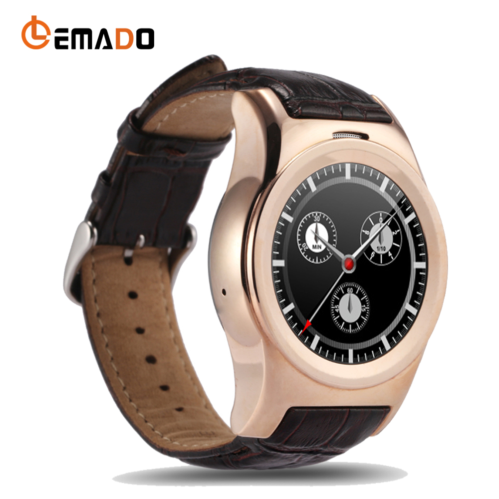Lemado A8S Bluetooth Smart Watch Heart Rate Monitor SIM Card Wearable Devices Music Round Display Wristwatch For IOS Android new curren x4 smart phone watch heart rate step counter stopwatch ultra thin bluetooth wearable devices sport for ios android