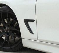 Chrome Car Side Wing Fender Air Guide Vent Frame Trim Sticker For BMW 3 Series F30
